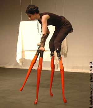 Lisa on 4, 28-inch wooden table-leg stilts